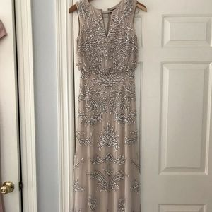 Blush long sequin dress